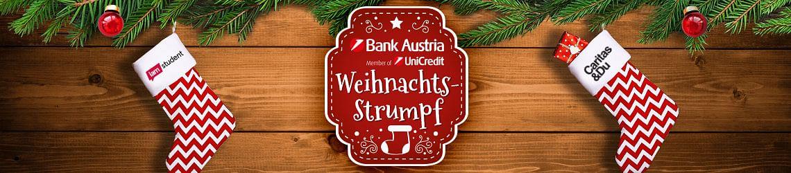 Der Bank Austria und iamstudent Weihnachtsstrumpf!