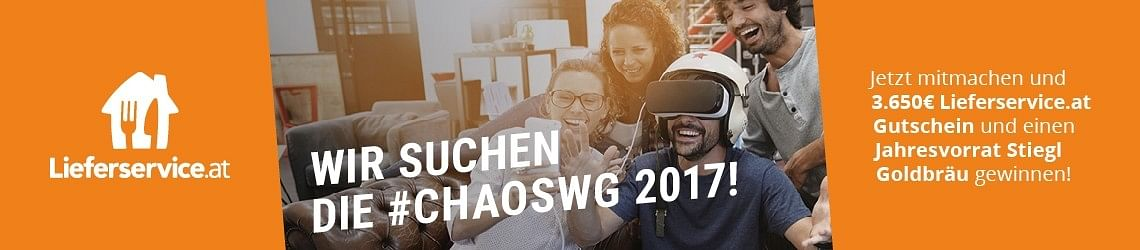 #ChaosWG2017 - powered by Lieferservice.at