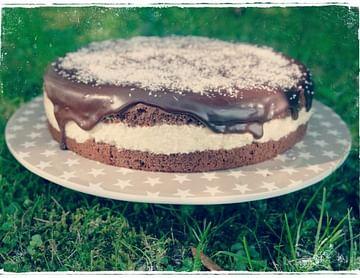 Kokos-Milchreis-Torte mit Schokolade