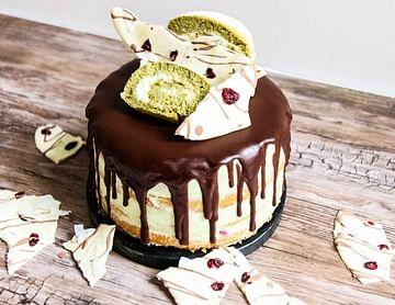Matcha Double Chocolate Cake
