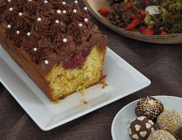 Fruchtiger Nougat-Pistazien-Kuchen und Nougat-Cake-Trüffel
