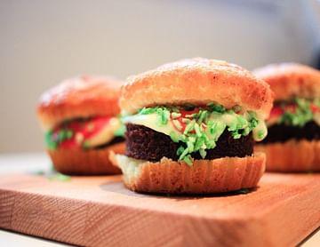 Burger Cupcakes mit Fries
