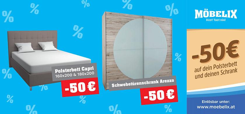 -50€ auf dein Polsterbett und deinen Schrank