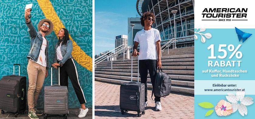 15% RABATT auf Koffer, Handtaschen und Rucksäcke