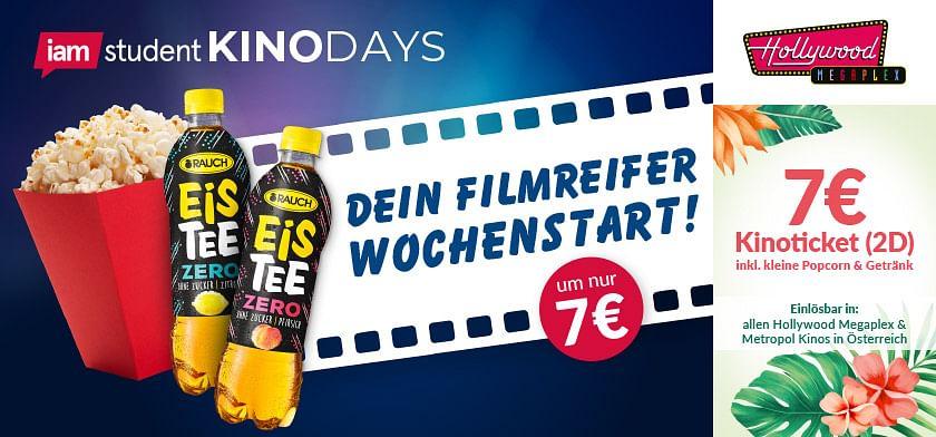7€ Kinoticket inkl. Popcorn und Getränk