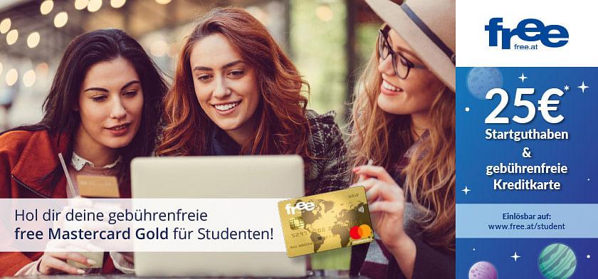 25€* Startguthaben & gebührenfreie Kreditkarte