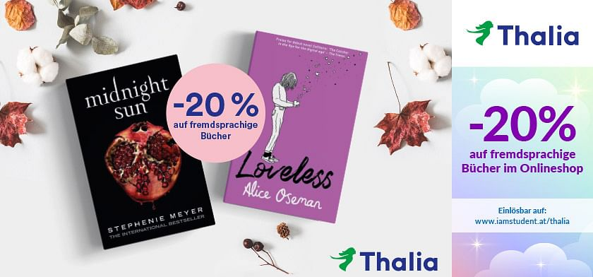 20% Rabatt auf fremdsprachige Bücher im Onlineshop