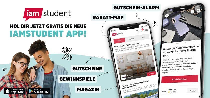 Hol dir jetzt gratis die neue iamstudent App!