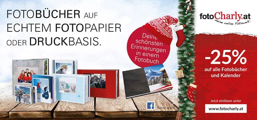 -25% auf alle Fotobücher und Kalender