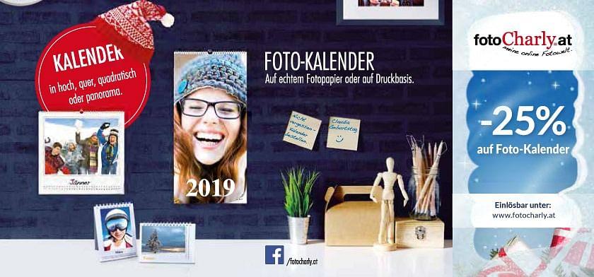 25% auf Foto-Kalender
