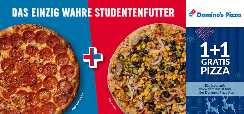 1 + 1 Gratis Pizza