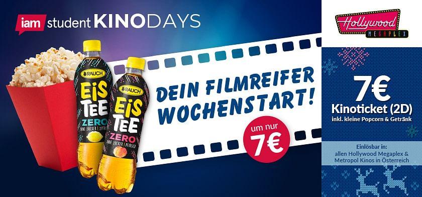 7€ Kinoticket (2D) inkl. Kleine Popcorn & Getränk