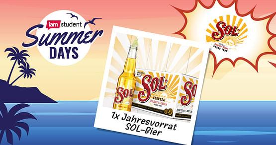 Gewinne einen Jahresvorrat SOL-Bier