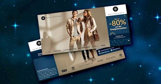 Top Markenkleidung - aber günstig? Mit dem BestSecret Studentenrabatt aus unserem aktuellen Gutscheinheft erhältst du Zugang zur exklusiven Fashion-Plattform BestSecret und sicherst dir so bis zu 80% Nachlass auf echte Designerstücke.