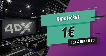 Voller Kinogenuss um 1€!