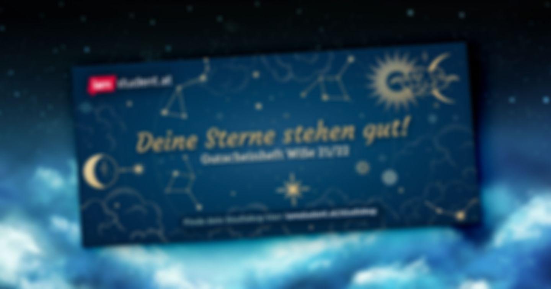 Hier kommen deine kosmischen Gutscheine fürs Wintersemester!
