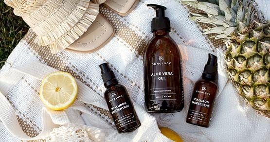 An deine Haut kommt nur Natur pur? Dank unseresJUNGLÜCK Studentenrabattsholst du dirnachhaltige Pflegeprodukte für Haut, Haar und Körperim Onlineshopjetzt um15% günstiger!