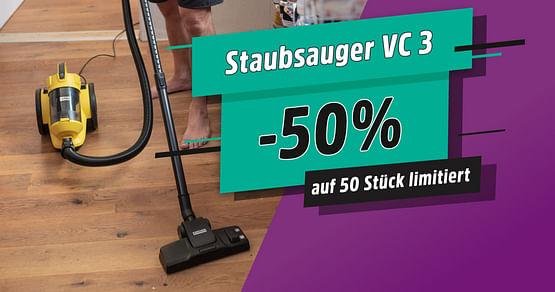 -50% auf Staubsauger