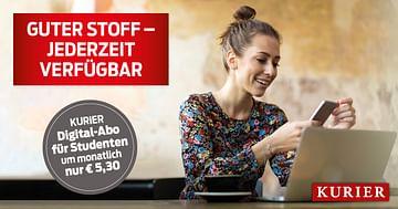 KURIER Studentenrabatt: Digital-Abo um nur 5,30€ pro Monat