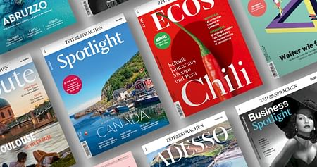 Si, Oui, Yes: Egal welche Sprache du lernen willst, mit dem Spotlight Magazin verbesserst du deine Kenntnisse und liest gleichzeitig spannende Reportagen. Unser Spotlight Studentenrabattschenkt dir eine Ausgabe des Sprachmagazins deiner Wahl!